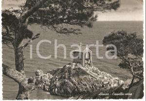 1955 ALASSIO (SV) Panorama con cappella votiva *Cartolina FG VG