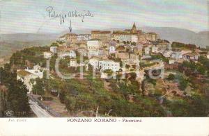 1914 PONZANO ROMANO (RM) Panorama con Palazzo Abbaziale *Cartolina FP VG