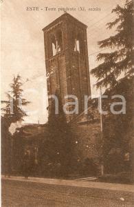 1918 ESTE (PD) Panorama con Torre Pendente *Cartolina FP VG