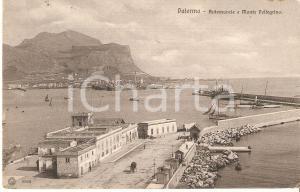 1912 PALERMO Antemurale e MONTE PELLEGRINO *Cartolina FP VG