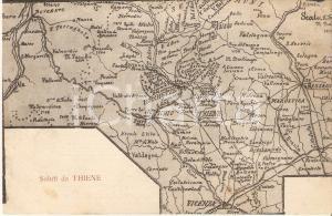 1918 THIENE (VI) Cartografia della città *Cartolina FP VG