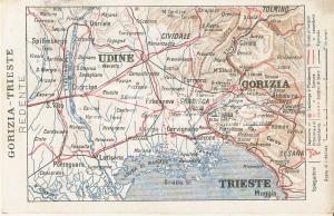 1917 IRREDENTISMO Gorizia e Trieste redente *Cartolina FP VG