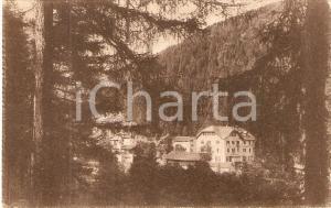 1920 ca STAVA DI TESERO (TN) Gli alberghi visti dalla Pineta *Cartolina FP NV