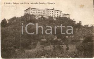 1932 FIUGGI (FR) Palazzo della Fonte visto da Pensione MIravalle Cartolina FP VG