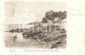 1915 ca GENOVA - QUARTO DEI MILLE Lo scoglio di GARIBALDI *Cartolina FP VG