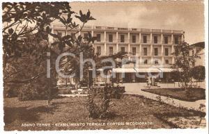 1955 ABANO TERME (PD) Stabilimento termale CORTESI MEGGIORATO *Cartolina FP VG