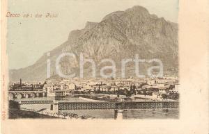 1905 ca LECCO Panorama con i due ponti *Cartolina FP NV