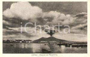 1930 NAPOLI Panorama del VESUVIO da Margellina *Cartolina FP VG