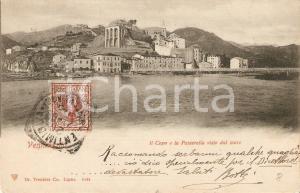 1903 VENTIMIGLIA (IM) Capo e Passerella visti dal mare *Cartolina FP VG