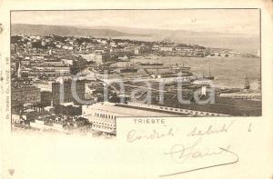 1900 ca TRIESTE Panorama della città *Cartolina FP VG