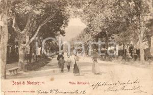1908 BAGNI DI MONTECATINI Donne con ombrellino in Viale Tettuccio *Cartolina FP