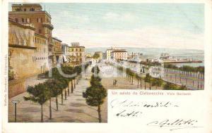 1910 ca CIVITAVECCHIA (RM) Panorama di Viale Garibaldi *Cartolina FP VG