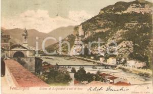 1920 ca VENTIMIGLIA (IM) Chiesa di San Giovanni e VAL DI ROIA *Cartolina FP VG