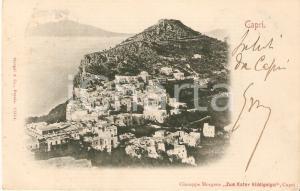 1902 CAPRI (NA) Veduta aerea dell'isola *Cartolina FP VG