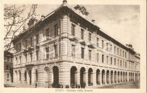 1931 ACQUI TERME (AL) Alunni davanti al Palazzo delle Scuole *Cartolina FP VG