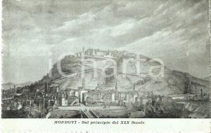 1911 MONDOVI' (CN) La città agli inizi del XIX Secolo Cartolina ILLUSTRATA FP VG