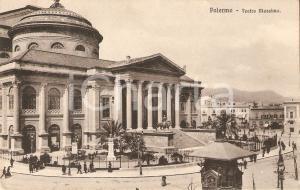1935 ca PALERMO Panorama con Teatro Massimo *Cartolina FP VG