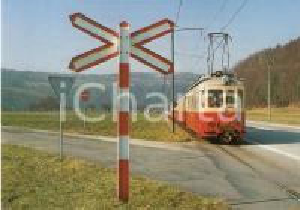1980 BUBENDORF (SVIZZERA) Treno elettrico della WALDENBURGERBAHN Cartolina FG NV