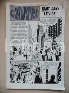 1972 L'AUTRE Ep. 5 Luciano BERNASCONI Venditore di giornali *Tavola originale