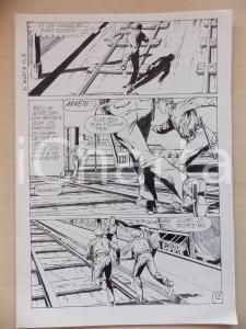 1972 L'AUTRE Ep. 5 Luciano BERNASCONI Uomo in fuga sui binari *Tavola originale