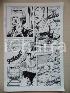 1972 L'AUTRE Ep. 5 Luciano BERNASCONI Uomo in fuga da un treno *Tavola originale