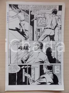 1972 L'AUTRE Ep. 5 Luciano BERNASCONI Uomo fugge su ascensore Tavola originale