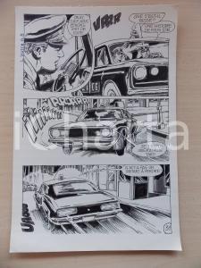 1972 L'AUTRE Ep. 5 Luciano BERNASCONI Inseguimento auto Polizia Tavola originale
