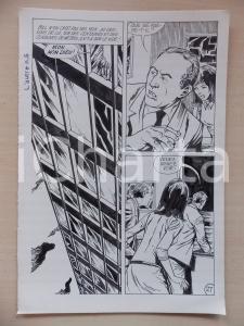 1972 L'AUTRE Ep.5 Luciano BERNASCONI Uomo si sporge da finestra Tavola originale