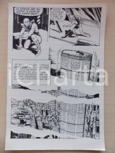 1972 L'AUTRE Ep5 Luciano BERNASCONI Alieno e grattacielo PAN AM Tavola originale