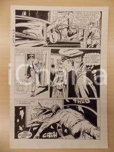 1972 L'AUTRE Ep.5 Luciano BERNASCONI Uomo prende alieno a pugni Tavola originale
