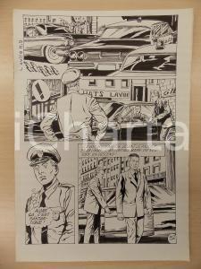 1972 L'AUTRE Ep. 5 Luciano BERNASCONI Posto di blocco Polizia *Tavola originale
