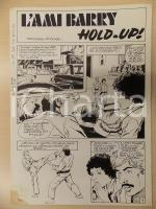 1981 AMI BARRY Ep.3 Luciano BERNASCONI Gara di karate *Tavola originale