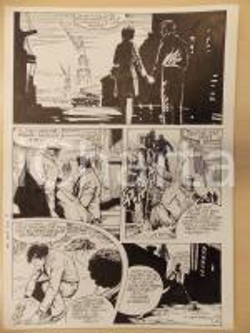 1981 AMI BARRY Ep.1 Luciano BERNASCONI Cadavere nel TAMIGI *Tavola originale