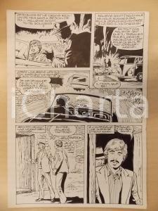 1981 AMI BARRY Ep.2 Luciano BERNASCONI Auto in fuga nella notte Tavola originale