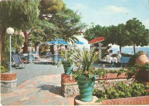1971 ALASSIO (SV) Relax ai giardini Hotel MEDITERRANEE Cartolina FG VG