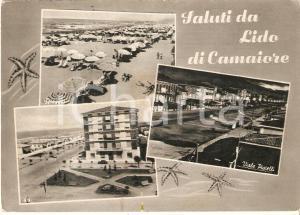 1959 LIDO DI CAMAIORE (LU) Vedute con Viale Pistelli e spiaggia *Cartolina FG VG
