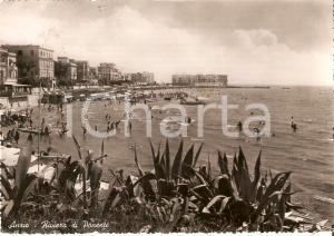 1953 ANZIO (RM) Bagnanti in acqua - Riviera di ponente *Cartolina FG VG