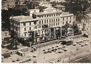 1935 ca ALASSIO (SV) Panorama con GRAND HOTEL *Cartolina FG NV