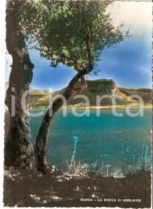 1951 GARDA (VR) Il lago e la Rocca di Adelaide *Cartolina FG VG
