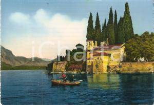 1960 ca PUNTA SAN VIGILIO (VR) Barca a remi nel Lago di Garda *Cartolina FG NV