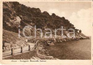 1937 ALASSIO (IM) Passeggiata Maresciallo CADORNA *Cartolina FG VG
