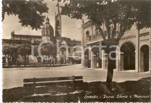 1950 ca SEZZADIO (AL) Piazza Libertà e Municipio *Cartolina FG NV