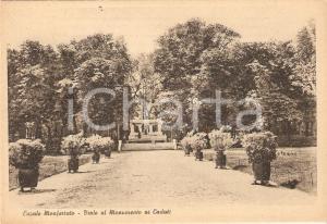 1930 ca CASALE MONFERRATO (AL) Viale al Monumento ai Caduti *Cartolina FG NV