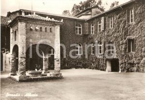 1955 ca SEZZADIO (AL) Cortile dell'Abbazia di SANTA GIUSTINA *Cartolina FG NV