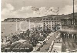 1955 VARAZZE (SV) Giardini e Grand Hotel - Panorama *Cartolina FG VG