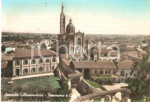 1950 ca SEZZADIO (AL) Panorama del paese con chiesa *Cartolina FG NV