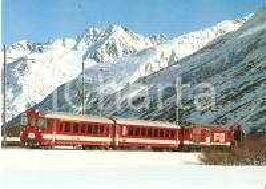 1980 ca FURKA - OBERALP BAHN Treno nella neve *Cartolina FG NV