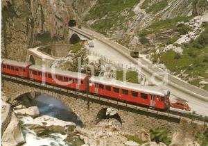 1980 ca GOTTHARDSTRASSE Schollenbahn, alte und neue Teufelsbrucke *Cartolina FG