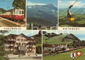1980 ca JAKOBSBAD - KRONBERG Vedutine con treno e funivia *Cartolina FG NV