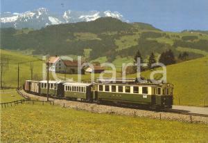1975 ca ST. GALLEN - GAIS - APPENZELL BAHN Treno e Monte SANTIS *Cartolina FG NV